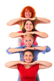 Joyful women Stock Image