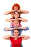 Joyful women stock image