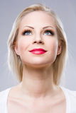 Joyful young blond woman. Royalty Free Stock Photos