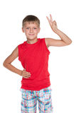 Joyful young boy Royalty Free Stock Photos