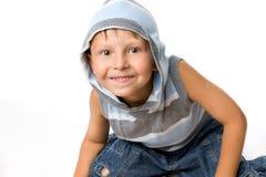 Joyful young boy. On a white background Stock Photo