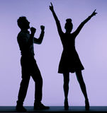 Joyful young couple dancing together Royalty Free Stock Image
