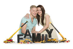 Joyful young couple establishing a  family. Stock Images