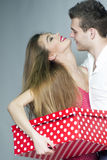 Joyful young couple Royalty Free Stock Photography