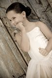 Joyful young girl with a ballet dress Stock Photos