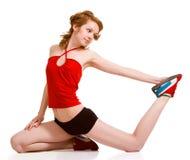 Joyful young girl exercising Stock Images