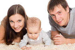 Joyful young parents with their son Royalty Free Stock Photography