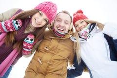 Joyful young people Stock Images
