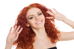 Joyful young woman Royalty Free Stock Photos