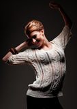 Joyful young woman dancing Royalty Free Stock Photography