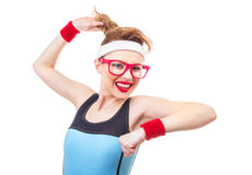 Joyfull young fitness woman Stock Photography