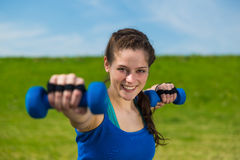 Joyfully fitness workout . Stock Images