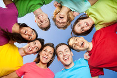 Joyfyl young people stock images