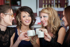 Joyoful Teens in a Cafe Stock Photography