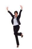 Joyous business woman Stock Photo