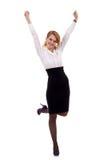 Joyous business woman celebrating Stock Images