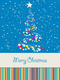 Joyous Christmas card Royalty Free Stock Images
