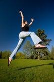 Joyous Jump stock photo