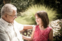 Joyous life - grandfather with grandchild Royalty Free Stock Images