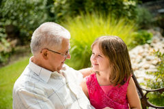 Joyous life - grandfather with grandchild Stock Photo