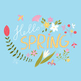 Joyous, spring floral composition. Spring. Vector background Royalty Free Stock Images