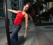 Joyous woman Stock Image