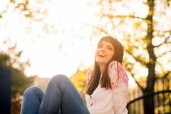 Joyous woman Stock Photo