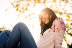Joyous woman Royalty Free Stock Photo