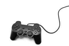 Joypad. Black joypad isolated on the white background Stock Photos