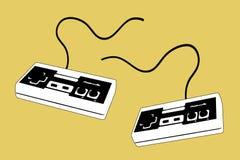 joypad 2 voor 2 spelers vector illustratie