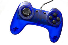 Joypad. Translucent blue joypad over white Royalty Free Stock Image