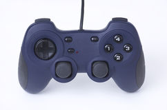 Joypad. Blue computer joypad, gaming equipment Royalty Free Stock Images