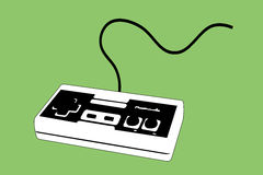 Joypad del videogioco per la sezione comandi Fotografie Stock Libere da Diritti
