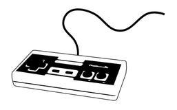 Joypad do videogame para o console Foto de Stock Royalty Free