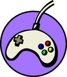 Joypad videogame controller. Vector file available. Illustration of a joypad type videogame or video game controller. Vector file available in EPS format Stock Image