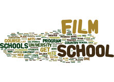 The Joys Of Film School Text Background  Word Cloud Concept Stock Images
