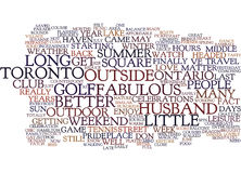 The Joys Of Summer Text Background Word Cloud Concept Royalty Free Stock Image
