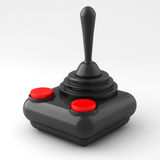 Joystick. 3D rendering if a joystick isolated on white background Royalty Free Stock Photo
