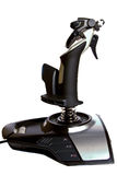 Joystick. Isolated used to fly aircraft in tv games Royalty Free Stock Photography