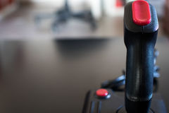 Joystick arcade game for computer and console from 80& x27;s. Black c Stock Images