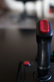Joystick arcade game for computer and console from 80& x27;s. Black c Royalty Free Stock Photos