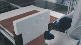 Joystick automatic control machine for cutting foam polystyrene stock footage