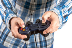 Joystick in hands Royalty Free Stock Photo