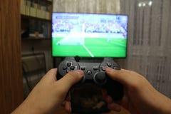 Joystick for video game consoles Stock Photos