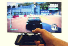Joystick for video game consoles Royalty Free Stock Images