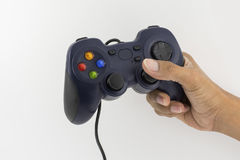 Joystick for video games. In the right hand Stock Photo