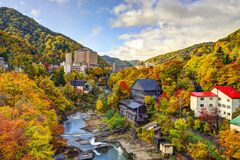 Jozankei, Japan in the Fall stock images