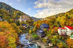 Jozankei Japan i nedgången Arkivbilder