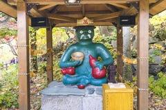 Jozankei Onsen,日本- 2017年10月20日:Kappa雕塑c 免版税库存照片