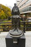 Jozankei Onsen, Япония - 20-ое октября 2017: Скульптура c каппа стоковые изображения